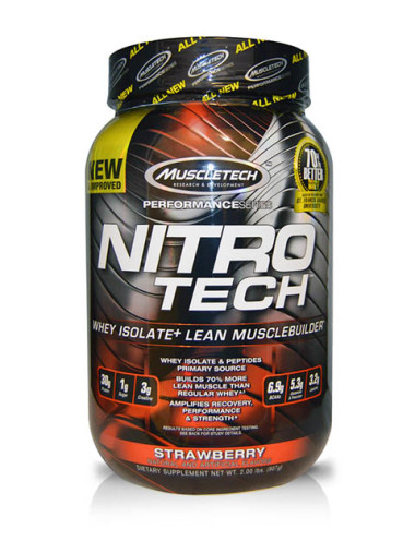 MUSCLETECH-Performance Series Nitro Tech Strawberry 2 libras